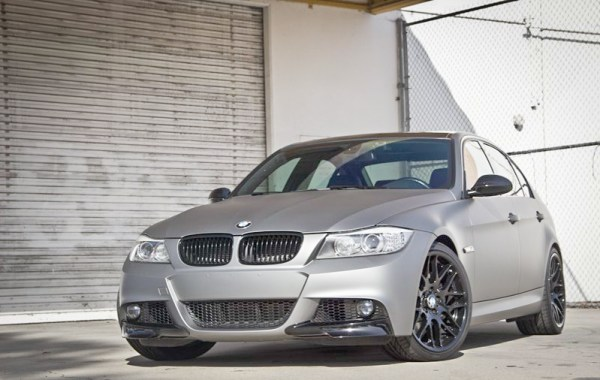 Quick Snap: Matte Gunmetal BMW 335d [E90] Photoshoot