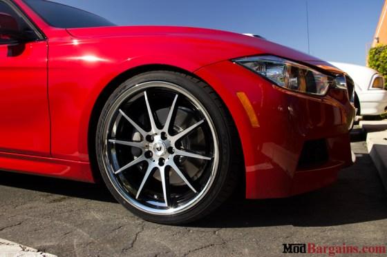Red BMW 335i F30 Wheel