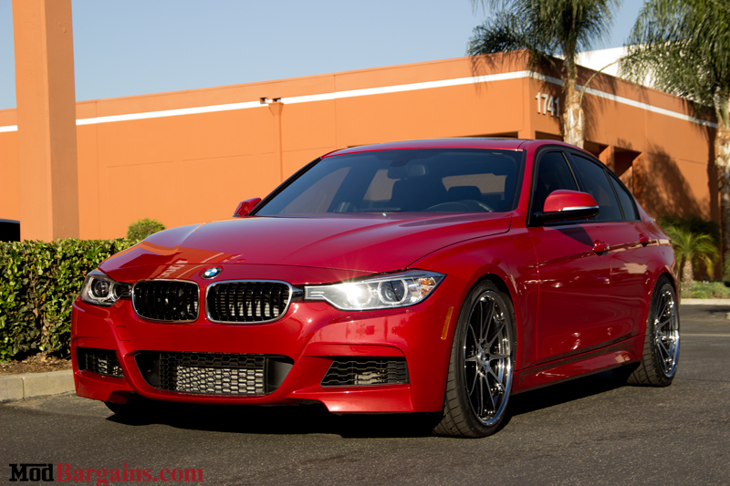 Red BMW 335i F30 Front