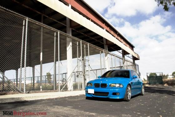 Laguna Seca Blue BMW E46 M3 Front View