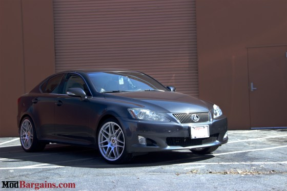 Dark Grey Lexus IS250 Front Silver Forgestar F14