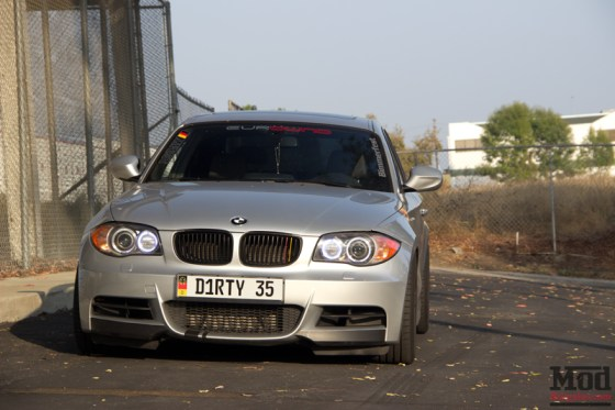 Silver BMW 135i Front Halo Angel Eyes
