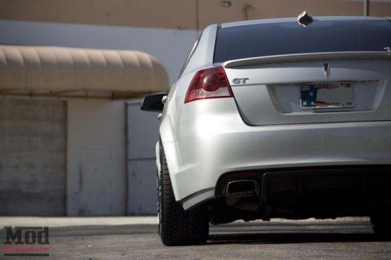 Silver Pontiac GT G8 Rear