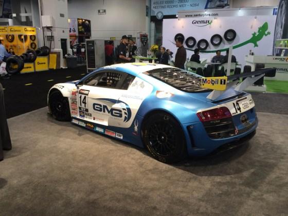 Blue White Audi Sports