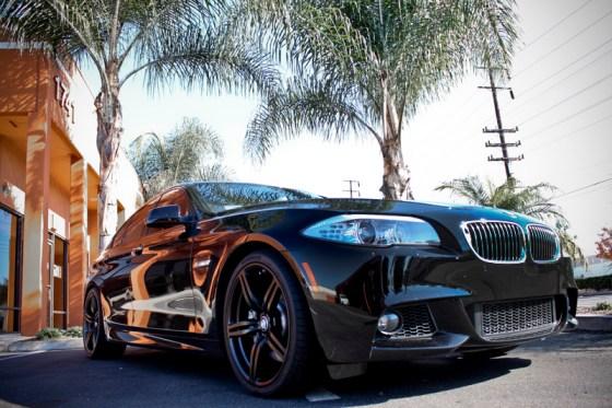 Black BMW F10 535i Front Bumper