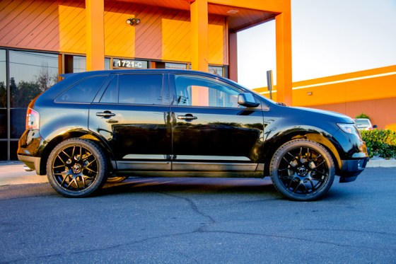 Black Ford Edge Avant Garde M310 Matte Black Wheels Sideview