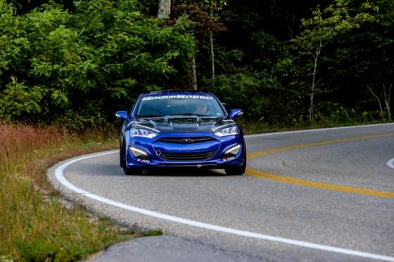 Blue Hyundai Genesis Coupe Modification Front Bumper