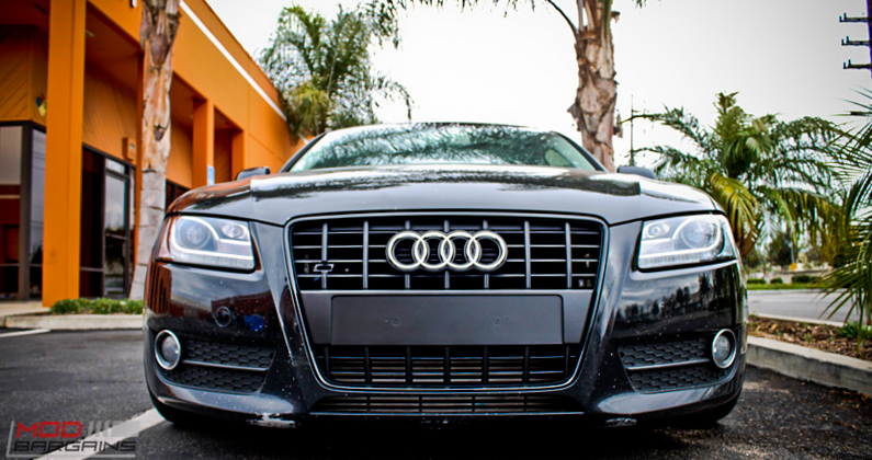 Audi B8 A5 Forgestar CF10 Gunmetal 19x85 KW V2 Coilovers RS Grille (4)