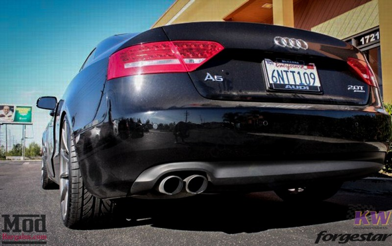 Audi B8 A5 Forgestar CF10 Gunmetal on KW V1 Coilovers w RS Grille (4)