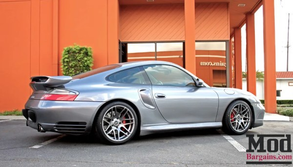 Quick Snap: Thomas D's Silver Porsche 996 On Forgestar F14 Wheels