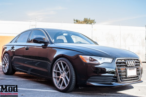 Rolling VIP: Audi A6 on Avant Garde M510 Wheels in Machined Silver with H&R Springs