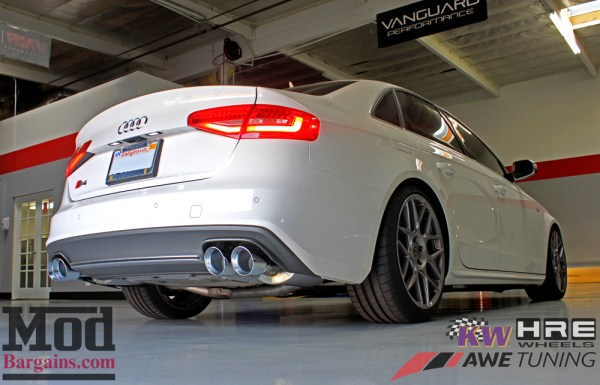 Quick Snap: B8 Audi S4 AWE Touring Exhaust System Installed on Michael Chen's S4