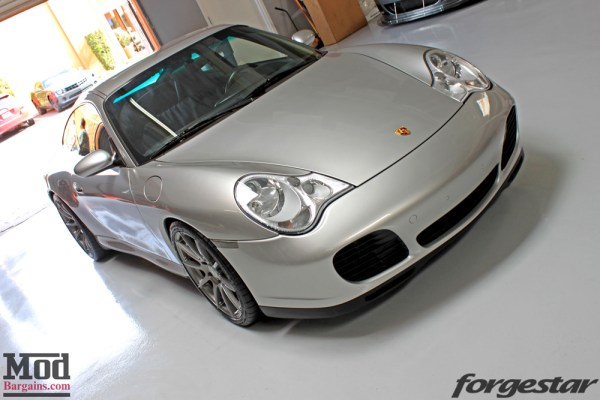 Porsche 996 Carrera 4S on Forgestar CF10 Gunmetal Wheels