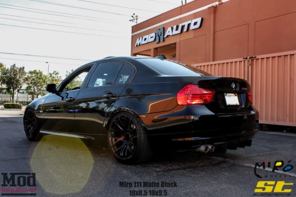Got BEEF? BMW E90 328i Gets ST Coilovers & MEATY Continental Tires