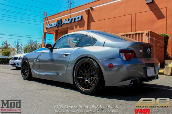 Quick Snap: BMW Z4 M Coupe on BC Coilovers on custom VMR V703 Bronze Burst Wheels