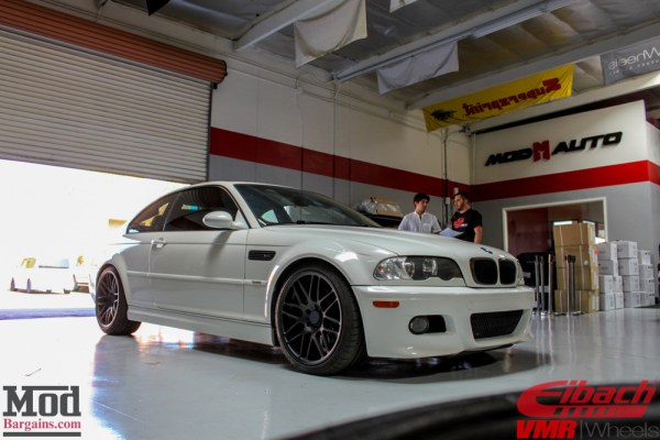 Refresher Course: BMW E46 M3 gets Koni Shocks, Eibach Springs & VMR VB3 Wheels