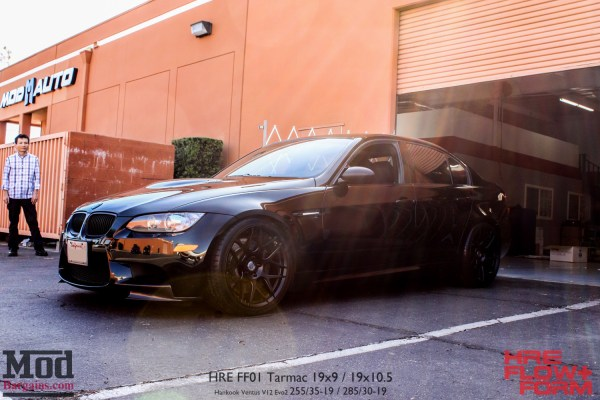 Quick Snap: Andy V's Black on Black E90 BMW M3 on HRE FF01 Wheels