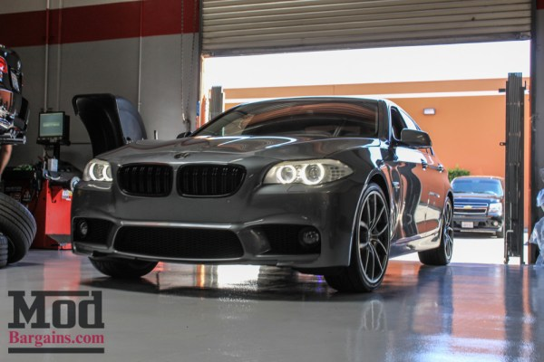 Quick Snap: F10 BMW 550i with F10 M5 Style Bumper is one Aggro Facelift