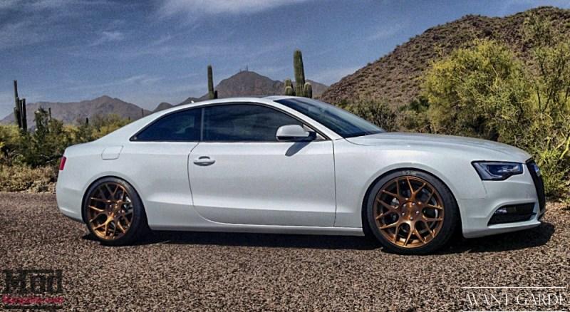 """Audi A5 - 20x10"""" / 20x10"""" Matte Brushed Grigio M590"""