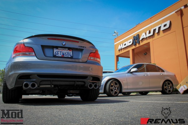 Installed: Remus E82 BMW 135i Quad Exhaust on Sick Volk Wheels