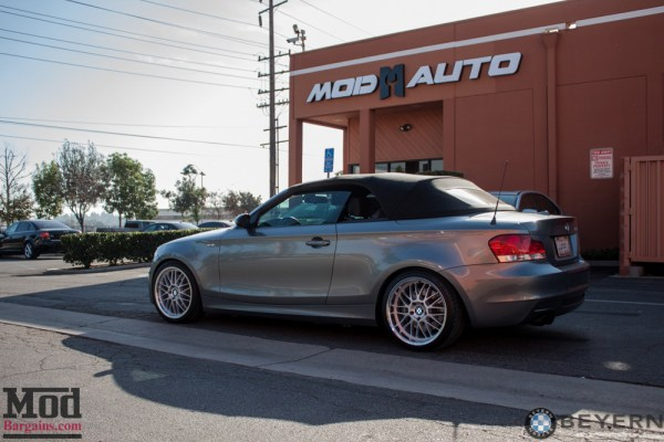 Classic Style: BMW 135i Cabrio gets Beyern Mesh Wheels for E82
