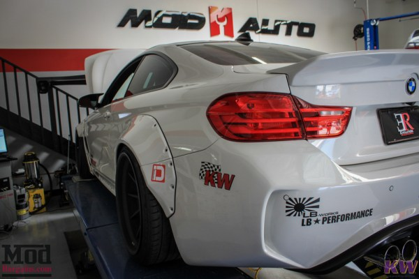 ER's Insane Widebody BMW M4 F82 Liberty Walk Monster Gets Aligned @ ModAuto
