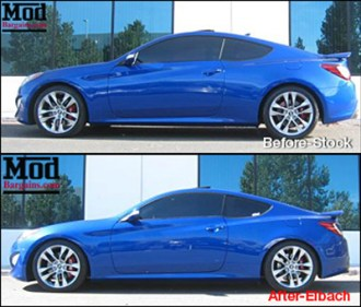 EIBACH SPRINGS Genesis BEFORE and AFTEr