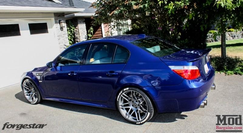 BMW E60 M5 Blue Forgestar F14 20x95et9 20x11et29 SDC-3