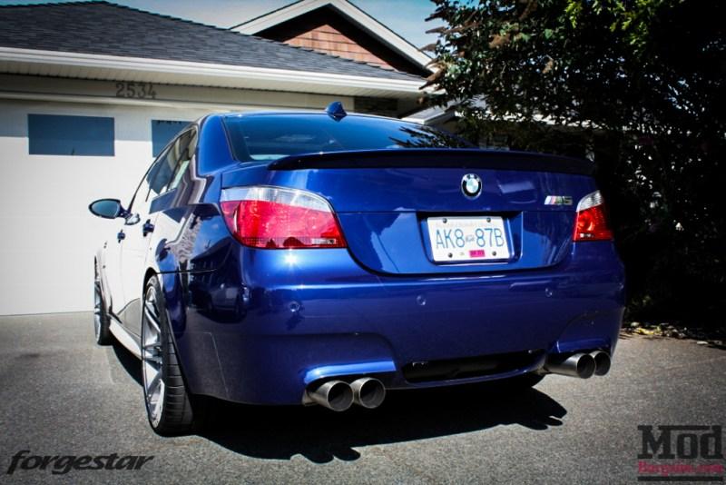 BMW E60 M5 Blue Forgestar F14 20x95et9 20x11et29 SDC-5