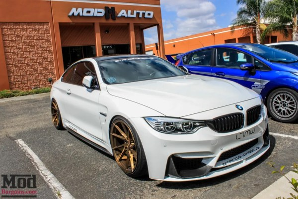 Quick Snap: Sick Slammed BMW F32 435i on Stance Wheels with IPE Exhaust Visits ModAuto
