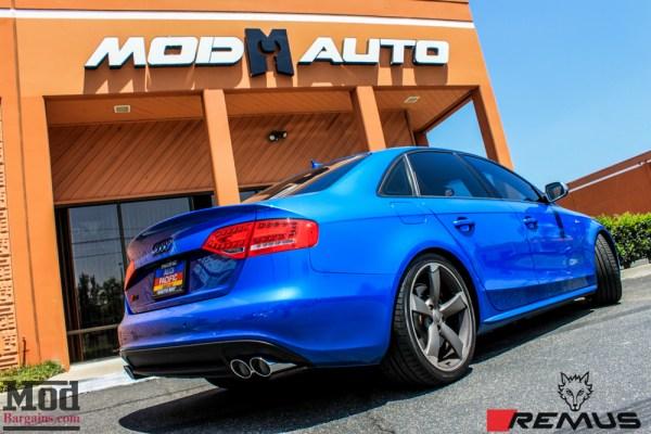 Video: Sepang Blue B8.5 Audi S4 Remus Exhaust Installed @ ModAuto