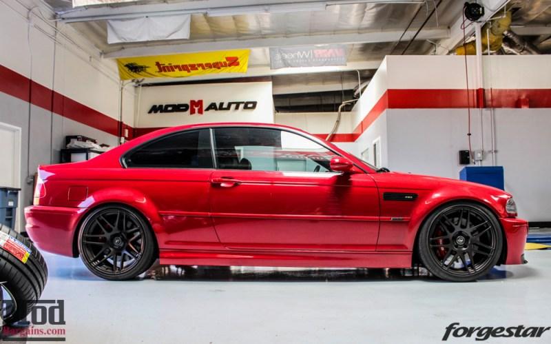 BMW_E46_M3_Imola_Red_Mishimoto_Radiator_ForgestarF14_KW_V3_HRsways-26