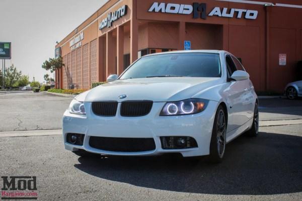 Quick Makeover: BMW E90 328i on VMR VB3 Wheels Gets M3 Bumper Installed @ ModAuto