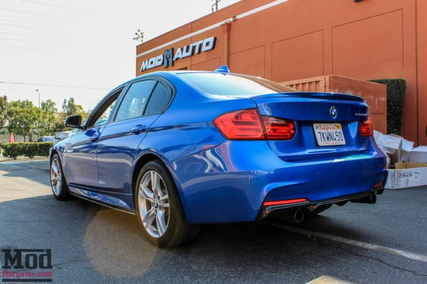 Quick Snap: Estoril Blue ActiveHybrid F30 BMW 335i Gets Carbon Fiber Makeover (Front Lip, Side Skirts + Diffuser)