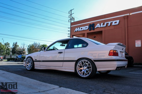Classic E36 BMW M3 on BC Coilovers + Eurotek Wheels Gets New Headlights @ ModAuto