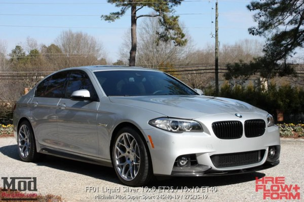 Quick Snap: F10 BMW 535i MSport on HRE FF01 Flow Form Wheels