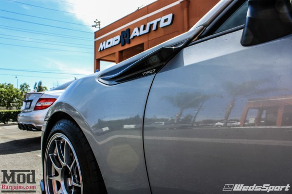 Quick Snap: Stunning Silver 10-Series Scion FR-S on Wedsport TC105N Wheels with TRD Goodies