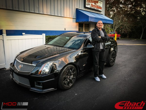 Quick Snap: Richard G's Cadillac CTS-V Lowered on Eibach Springs (Before/After)