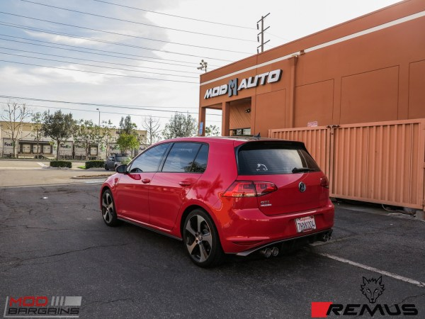 Quick Snap: Remus Quad Exhaust for VW Golf GTI Mk 7 @ ModAuto