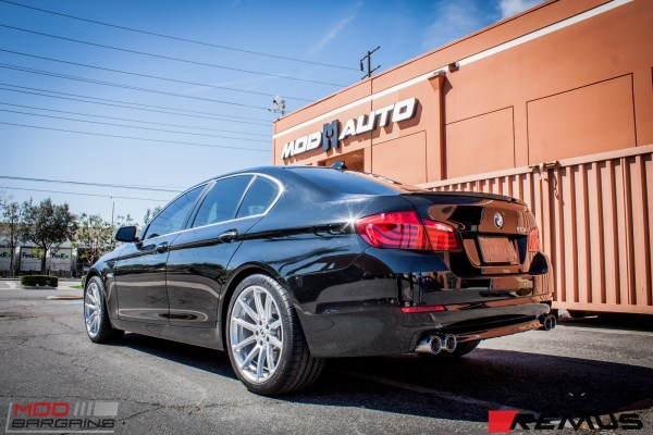 Quick Snap: BMW F10 528i on Dinan Wheels gets a Remus Quad Exhaust