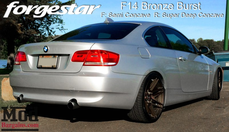BMW E92 335i Forgestar F14 Bronze Burst 19x85 19x10 001