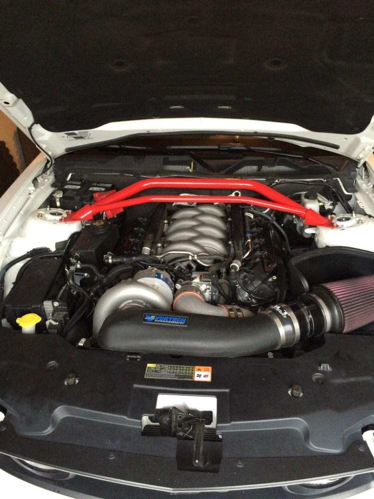 Ford S197 Mustang Underhood Vortech Supercharger BMR Strut Brace