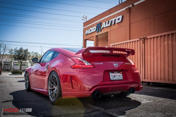 Nissan 370Z Nismo on Rays Wheels Gets Aligned @ ModAuto