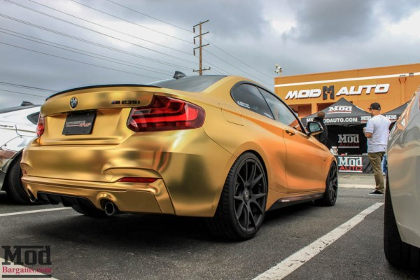 Quick Snap: Gold F22 BMW M235i on Forgestar CF5V Matte Black Wheels