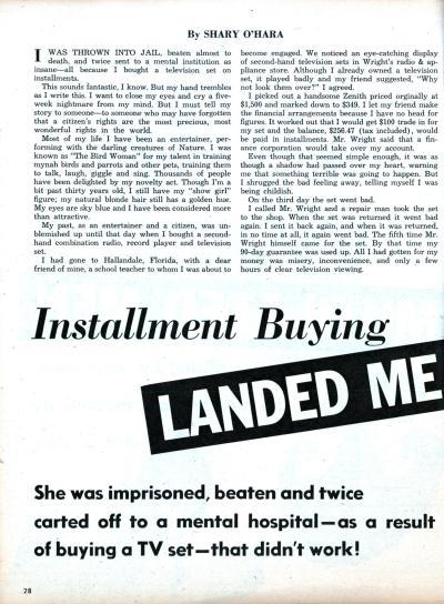 Installment Buying Landed Me In Jail | Modern Mechanix
