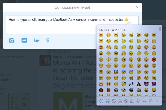 emojis macbook air