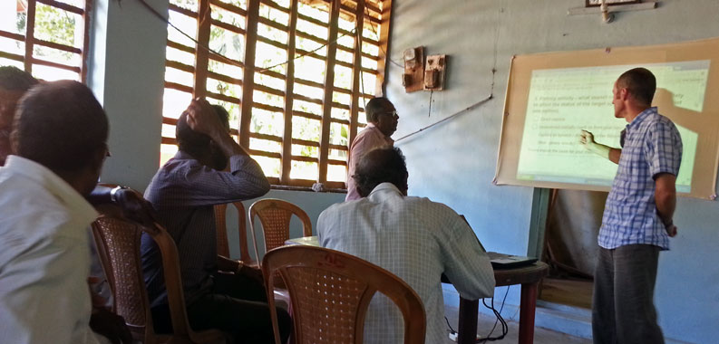 image of Risk Based Framework workshop with Ashtamudi fishers, India