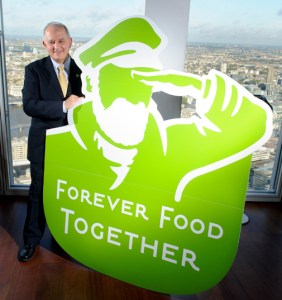 Image of Peter Hajipieris of Iglo Foods with Birds Eye Green Captain logo