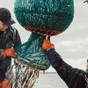 ce fishermen emptying nets