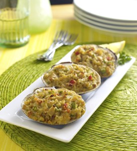 Stuffed clam shells